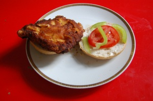 Schnitzel en pan de Semmel