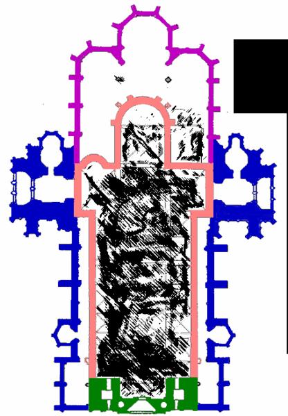 Esquema del interior de Stephansdom