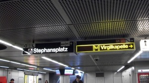 Letrero en el metro