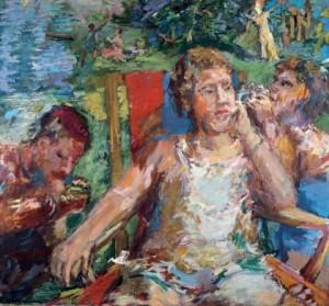 En el jardín, 1934