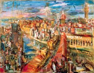 Florencia, vista desde la Torre Mannelli, 1948
