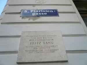 Placa de Fritz Lang en Viena