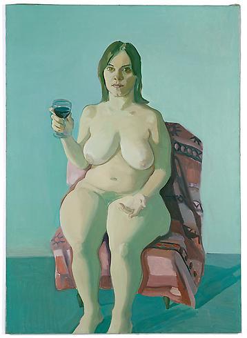 Chica con vaso de vino