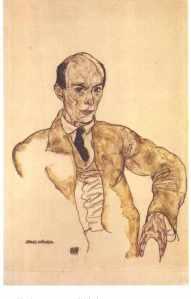 Retrato de Schiele a Arnold Schönberg (1917)