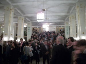 Vestíbulo de la Konzerthaus tras un concierto
