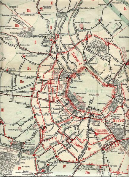 1922 Mapa del tranvía