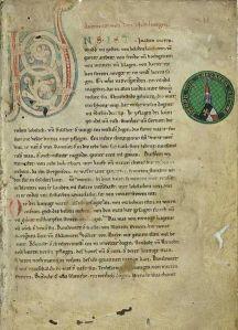 Primera página del manuscrito El cantar de los Nibelungos (1220-1250)