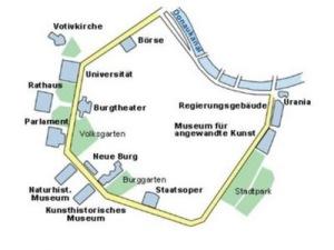Mapa del Ring con los edificios más famosos