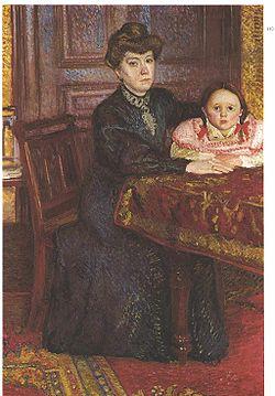 Retrato de Matilde Schönberg y su hija Gertrude Richard Gerstl