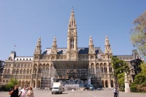 Wiener Rathaus, el ayuntamiento de Viena