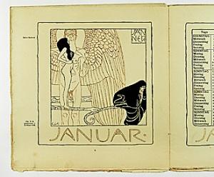 Pagina de calendario del mes de enero, 1901