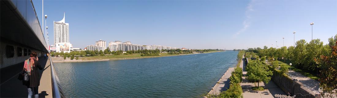 panorama neue donau La inmensidad del Danubio lugares y edificios que visitar general