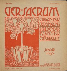 Ver Sacrum. Portada de la primera edición, 1898