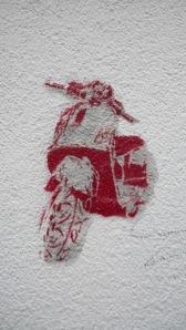 Graffiti hecho con plantilla