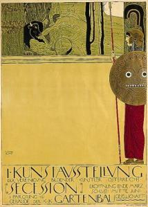 Gustav Klimt Poster de la 1era exposición de la Secession (1898)