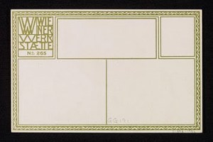 Postal creada por la Wiener Werkstätte