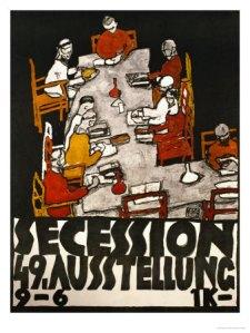 Poster de la 49 exposición de la Secession. Egon Schiele (1918)