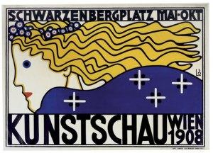 Poster para la Kunstschau. Berthold Loeffler (1908)