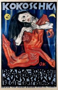 Poster para la Kunstschau. Oskar Kokoschka (1908)
